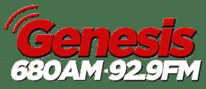Génesis Radio 680 logo blanco