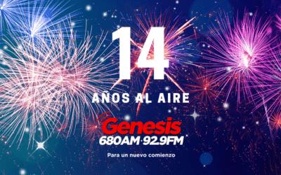 ¡Génesis Radio Celebra su Aniversario 14!