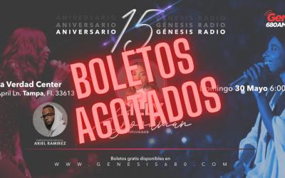 Lilly Goodman Concierto Tampa | Aniversario 15 Génesis Radio